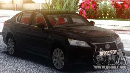 Lexus GS350F 2013 Black para GTA San Andreas