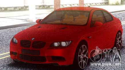 BMW M3 E92 Red Original para GTA San Andreas