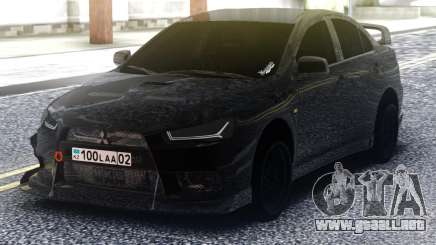 Mitsubishi Lancer Evolution X Black para GTA San Andreas
