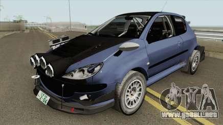 Peugeot 206 Rally (Street) Tuned para GTA San Andreas