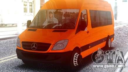 Mercedes-Benz Sprinter con los pasajeros para GTA San Andreas