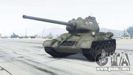 T-34-85 color verde para GTA 5