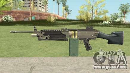 Advanced MG (M249) GTA IV EFLC para GTA San Andreas