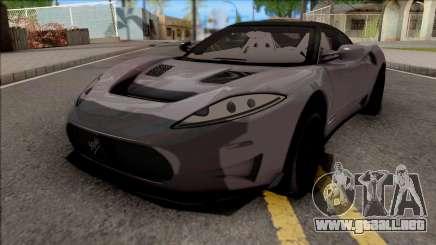 Spyker C8 Preliator 2017 para GTA San Andreas