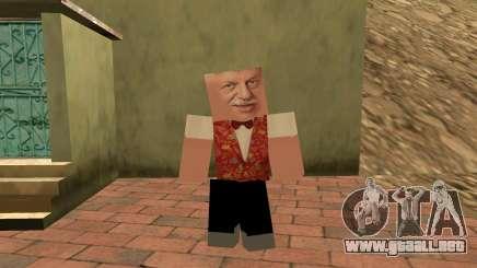 Michael Borisov (plomo Lotto) en el estilo de Minecraft para GTA San Andreas