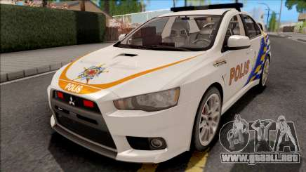 Mitsubishi Lancer Evolution X PDRM White para GTA San Andreas