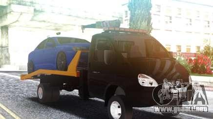 Remolque de camión GAZ-3302 con un Coche en el techo para GTA San Andreas