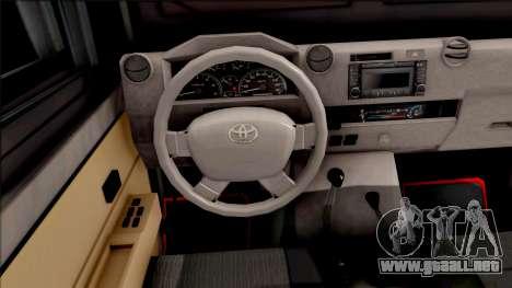 Toyota Land Cruiser Armadillo FAES-CPNB v1.0 para GTA San Andreas