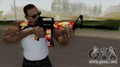 M4A1 (Galaxy Stars Fire Skin) para GTA San Andreas