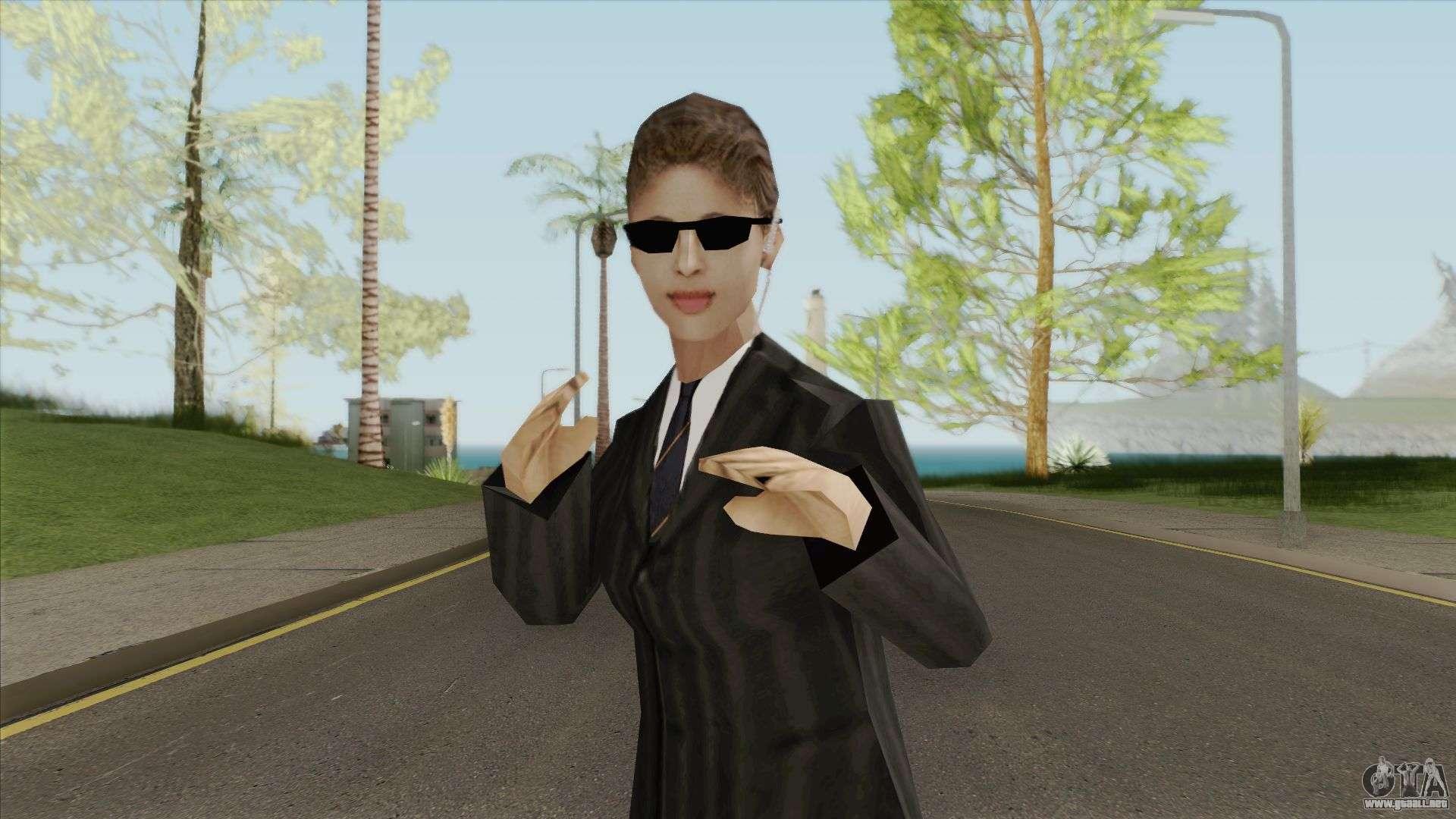 Kasumi DoA Black Dress para GTA San Andreas