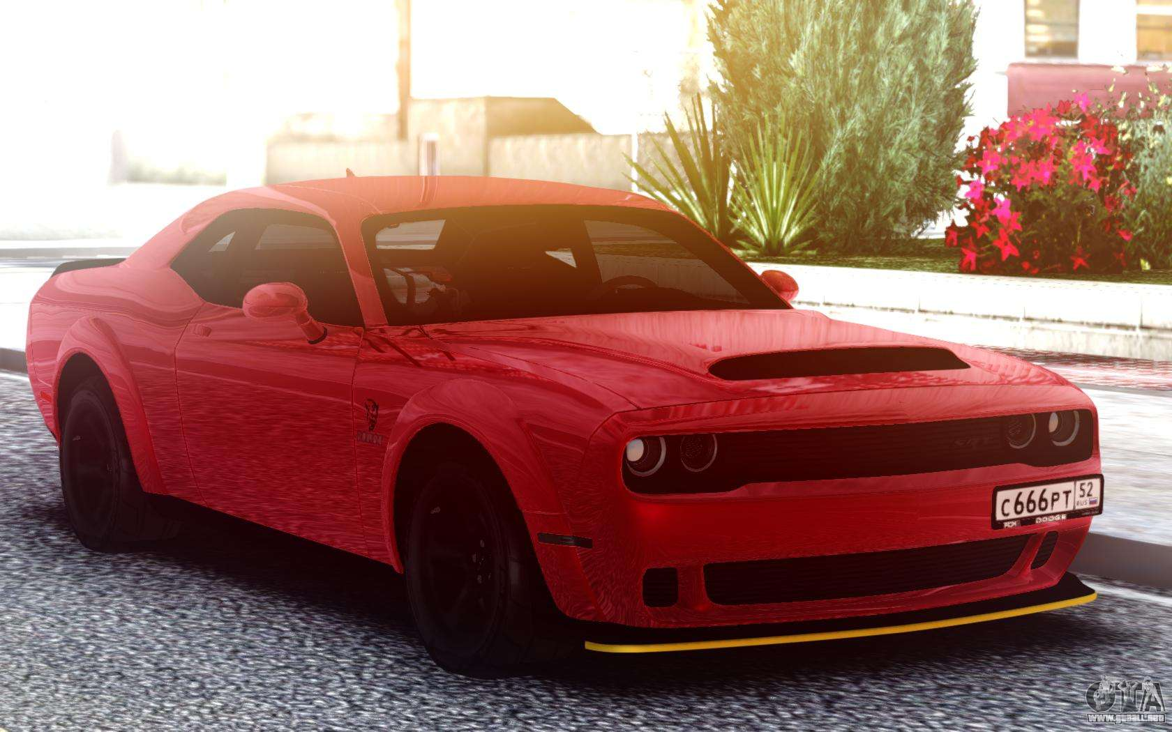 Dodge Srt Demon 2020 Turbo Ke32 Para Gta San Andreas