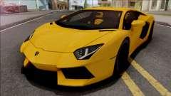 Lamborghini Aventador LP700-4 2011 Yellow para GTA San Andreas