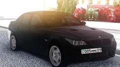 BMW M5 E60 M Black & White para GTA San Andreas