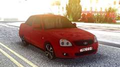 Lada 2170 Priora Rojo para GTA San Andreas