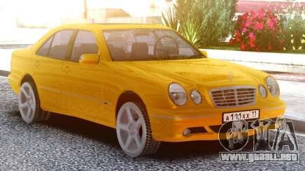 Mercedes-Benz E55 W210 Yellow para GTA San Andreas