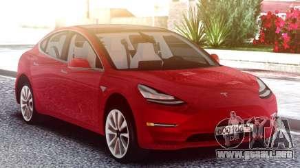 Tesla Model 3 Red para GTA San Andreas