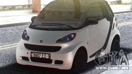 Smart ForTwo White para GTA San Andreas