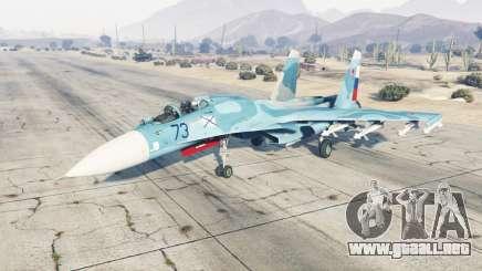 Su-33 suave de color azul para GTA 5