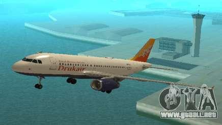 Druk Air (Real Bhuth La Aerolínea Tiene Como Objetivo) Airbus A319-100 para GTA San Andreas