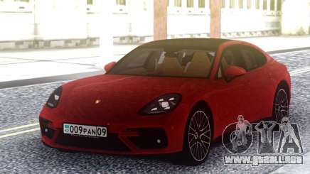 Porsche Panamera Turbo Red para GTA San Andreas