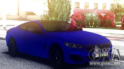 BMW 850i Blue para GTA San Andreas
