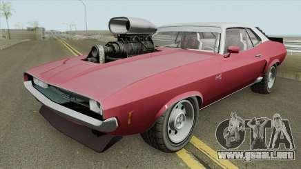 Bravado Gauntlet Classic GTA V Custom Bonnet IVF para GTA San Andreas