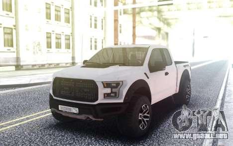 Ford Raptor 2018 para GTA San Andreas
