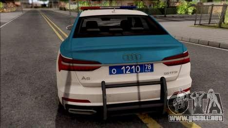 Audi A6 C8 2019 Russian Police para GTA San Andreas