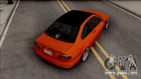 BMW 3-er E46 2000 Stance by Hazzard Garage para GTA San Andreas
