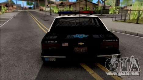 Chevrolet Caprice 1992 Police SFPD SA Style para GTA San Andreas