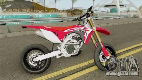 Honda CRF450R 2018 Motard para GTA San Andreas