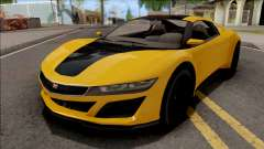 GTA V Dinka Jester Yellow para GTA San Andreas
