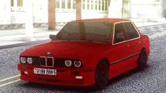 BMW E30 Red Sedan para GTA San Andreas