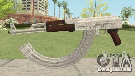 AK-47 Silver para GTA San Andreas