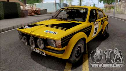 Opel Kadett C GTE Rally 1976 para GTA San Andreas