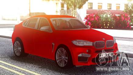 BMW X6M Original Red para GTA San Andreas