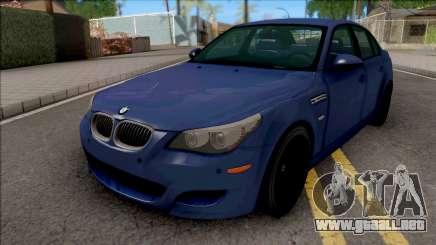 BMW M5 E60 2009 Blue para GTA San Andreas