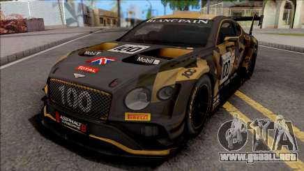 Bentley Continental GT3 2018 para GTA San Andreas