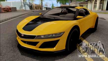 GTA V Dinka Jester Yellow para GTA San Andreas