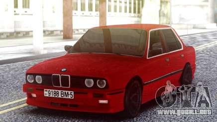 BMW E30 Red Sedan para GTA San Andreas