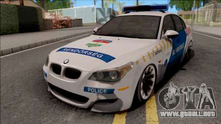 BMW M5 E60 Magyar Rendorseg para GTA San Andreas