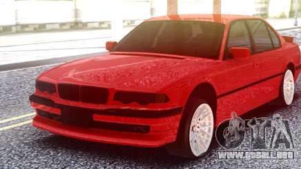 BMW 750IL Red para GTA San Andreas