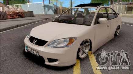 Honda Civic White para GTA San Andreas