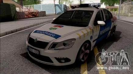 Skoda Octavia MK2 Facelift Magyar Rendorseg para GTA San Andreas