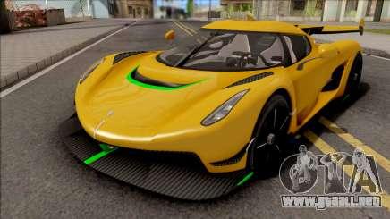 Koenigsegg Jesko 2019 para GTA San Andreas