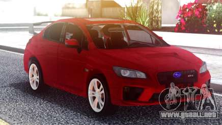 Subaru WRX 2015 Red Original para GTA San Andreas