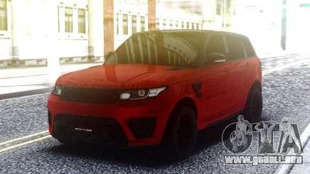 Range Rover Sport SVR Red para GTA San Andreas