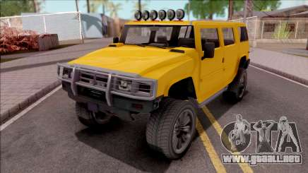 GTA V Mammoth Patriot para GTA San Andreas