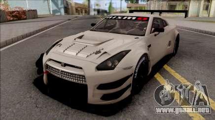 Nissan GT-R Nismo GT3 2014 Paint Job Preset 3 para GTA San Andreas
