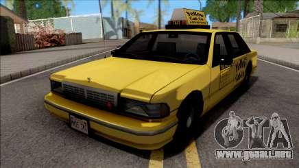Chevrolet Caprice 1992 Yellow Cab Taxi Sa De Estilo para GTA San Andreas